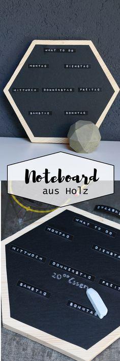 Notizboard aus Holz mit Tafelfolie