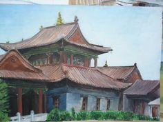 Choijin lama temple Gouache