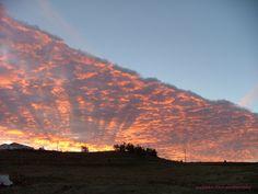 "Natural cloudscape photo taken in Billings, MT.  I call this ""Bi-Solar"""