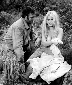 "Sean Connery & Brigitte Bardot  On the set of "" Shalako "" ,1968"