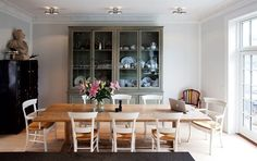 Kitchen, dining table, large cabinet, Adam Price