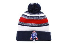 d2cc5fc2dfeeb Amazon.com   New England Patriots 2014 On Field Throwback Classic Logo  Sport Knit Cap Winter Hat   Toque   Sports   Outdoors
