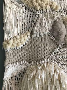 Textiles, Tapestry Weaving, Merino Wool Blanket, Basket Weaving, Textile Art, Fiber Art, Needlework, Wall Decor, Diy Crafts
