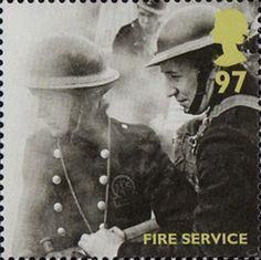 Britain Alone 97p Stamp (2010) Fire Service