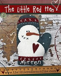 Snow Mitten KIT Pincushion by The Little Red Hen