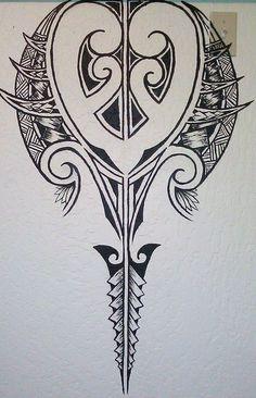 Hip onto top of thigh Maori Tattoos, Tattoos Bein, Tribal Tattoos, Maori Designs, Polynesian Tattoo Designs, Polynesian Tribal, Small Quote Tattoos, Small Tattoos With Meaning, Cute Small Tattoos