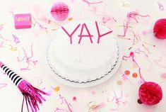 DIY Cake Word Topper!