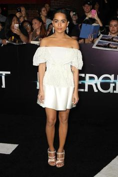 100 best dressed of 2014 - Zoe Kravitz in a white off the shoulder mini dress