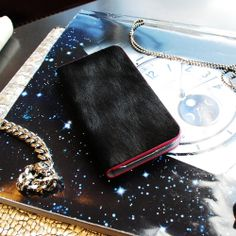 GAZE Black Calf Hair Leather Case for Galaxy Note 3/Note by zoarah