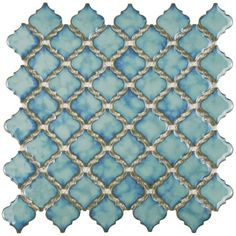 Merola Tile Hudson Tangier Marine 12-3/8 in. x 12-1/2 in. x 5 mm... ❤ liked on Polyvore featuring backgrounds