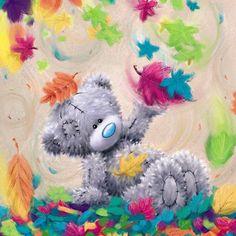Мишка Тетти: Осенние картинки с голубоносым мишкой