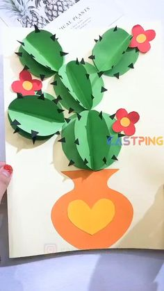 Paper Crafts Origami, Paper Crafts For Kids, Origami Easy, Diy Arts And Crafts, Creative Crafts, Fun Crafts, Fall Crafts For Kids, Spring Crafts, Art For Kids