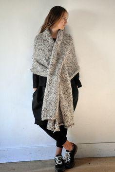 Chunky knit wrap