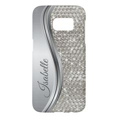 Silver Sparkle Glam Bling Personalized Metal Samsung Galaxy S7 Case #glam #bling #personalized #samsung #case #SamsungGalaxyS7Case. International shipping. #phonecases #iphonecases Samsung Galaxy S7 Case, Samsung Cases, Iphone Cases, Personalized Phone Cases, Latest Iphone, Unisex, Plastic Case, Phone Accessories, Galaxies