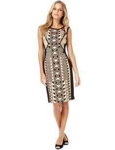 Cotton Rich Mirror Aztec Print Shift Dress