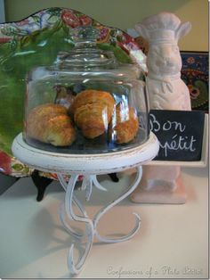 Cheese dome glued to candlestick