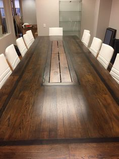 Create a powerful presence in your conference room with our Executive conference table. Perfectly at home in both rustic and modern styled offices, this table is available in lengths from 5 feet to 35 feet....