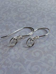 Sterling silver fancy earwires by bitsofniknats on Etsy, £3.50