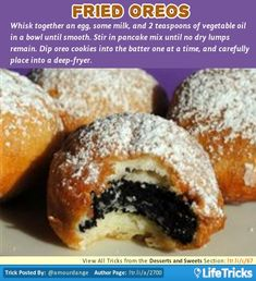 Desserts and Sweets - Fried Oreos