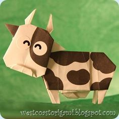 origami cow - i need to learn to do this