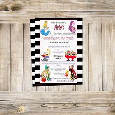 A personal favorite from my Etsy shop https://www.etsy.com/listing/281668450/alice-in-wonderland-invitation-tea-party  #etsy #thecreationboutique #invitations #invites #birthday #fun #aliceinwonderland #madhatter #queenofhearts #alice #teaparty