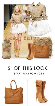 """Country Girl"" by smylin ❤ liked on Polyvore featuring D&G, Prada, Gestuz and country"