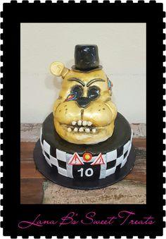 Golden Freddy Frazbear Birthday Cake