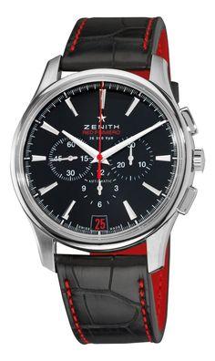 Zenith Mens 03.2115.400/21.C703 El Primero Captain Black Chronograph Dial Watch: Watches: Amazon.com