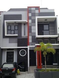 Desain Tampak Depan Teras Rumah 2 Lt Modern Minimalis