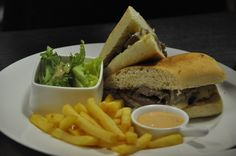 Best beef Sandwich served with the best taste..  Book your Cuisine with us at www.theroyalsantrian.com email. : info@theroyalsantrian.com  Luxury Beach Villa, Tanjung Benoa Bali,Indonesia