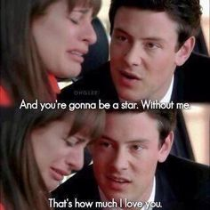 I seriously sobbed when I saw this. Not because its glee. Just the fact of the quote and what happened. Ugh. The feels.