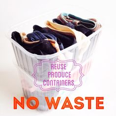 When you buy your #produce at the supermarket, you know many are already packed in these #plastic containers, how can we #reuse them? I don't have drawers so I use them to store my underwear! - Go get inspired! - - #repurpose #upcycle #upcycling #diy