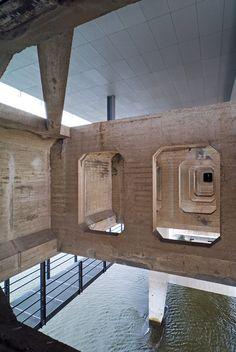 kraanspoor OTH architekten Amsterdam cemento clar geometria . tipo uba espacio