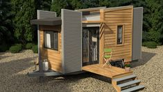 The Dragonfly by Utopian Villas is a small, yet distinctive, contemporary design 20-foot tiny house. On the exterior you'll find two drop down decks, a one-of-a-kind roof design, metal and wood siding, and ample windows. Inside you'll have 160-square-feet of luxury tiny home which include all the things needed for comfortable living. This includes hand-crafted …