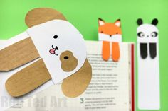 Just the cutest Dog DIY - check out this fabulous Dog Bookmark. Such super cute bookmark ideas and design. Must make. Love the fox and panda too. Printables