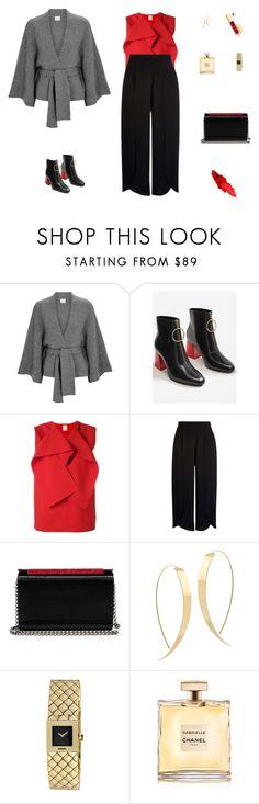 """Red blouse"" by mariagraziatrotta ❤ liked on Polyvore featuring Le Kasha, MANGO, Maison Rabih Kayrouz, Christian Louboutin, Lana and Chanel"