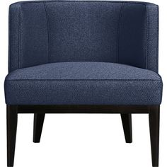 Grayson Chair in Chairs | Crate and Barrel color: luxe: dark blue