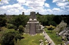 Tikal is one of the largest archaeological sites and urban centres of the pre-Columbian Maya civilization. It is located in the archaeological region of the Petén Basin in what is now northern Guatemala. Wikipedia.