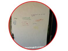 """Create a """"graffiti wall"""" in your classroom (I used my door) that kids can record what they learned that day. Great way to see just what has been learned throughout the year! (and helps the kids remember right before they leave to tell their parents ;))"""