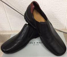 #Men #Shoes NEW COLE HAAN MEN'S ZENO SLIP-ON SHOES-BLACK-
