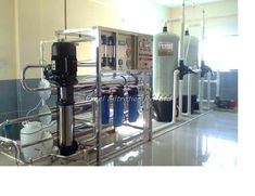 Reverse osmosis, a membrane desalination process increasingly used worldwide, purifies brackish water for drinking and industrials purposes. Ro Plant, Water Survival, Reverse Osmosis System, Water Solutions, Packing Machine, Mineral Water, Plant Sale, Water Treatment, Water Plants