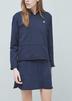 Cotton sweatshirt - Cardigans and sweaters for Women | MANGO