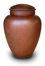 High Quality Spanish Cremation Ashes Urn - Full Size - Wooden (WU003C) (Adult)