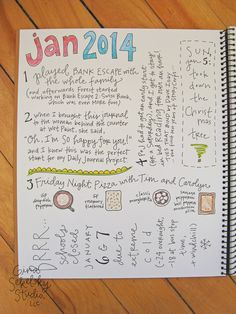 record one little tidbit from each day in the month of january