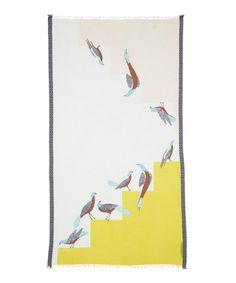 Birds Cotton Scarf