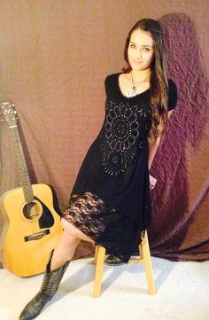 Cowgirl lace dress black @ Martin wear.net