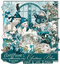 AmyMaire: 2 NEW KIts PTU Christmas Bunny 3 & Christmas Blues