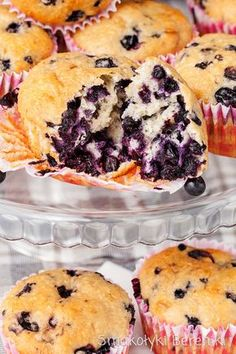 Muffiny z jagodami i wiórkami kokosowymi Paleo Recipes, Cooking Recipes, Polish Desserts, Cooking Cookies, Cheesecake Cupcakes, Cheesecakes, Donuts, Cupcake Cakes, Muffins