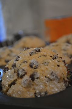 Marilyn's (almost just like Timmy's) chocolate chip muffins