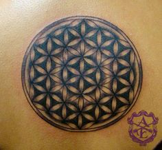 Symmetrical Flower Tattoo done by Sean Ambrose at Arrows and Embers Custom Tattooing